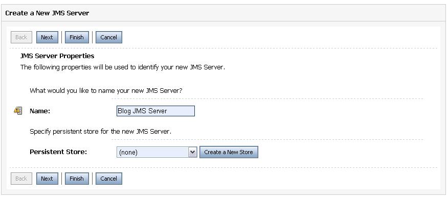 JMS Server Info